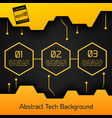 abstract tech background poster vector image vector image