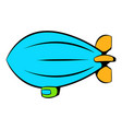 airship icon icon cartoon vector image vector image