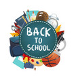 back to school poster education stationery vector image