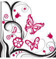 Background of abstract butterflies vector image