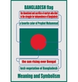 Bangladesh national flag meaning and symbolism vector image vector image