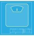 Bathroom scale sign White section of icon on