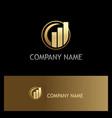 business finance stock gold logo vector image