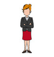 business woman character standing people vector image vector image