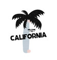card with lettering welcome to california in vector image vector image