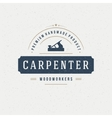 Carpenter Design Element in Vintage Style for vector image