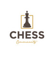 chess community vintage logo design inspiration vector image vector image