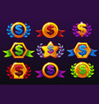 coloured templates dollar icons for awards vector image