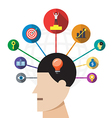 creative brain success concept vector image