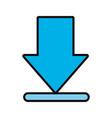 download arrow icon vector image vector image