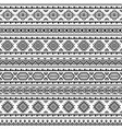 ethnic seamless monochrome pattern vector image