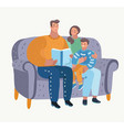 father reads a fairytale vector image vector image