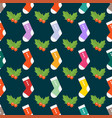 flat design colorful socks selection of various vector image vector image