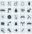 Flat Design Rounded Square Icons Set vector image vector image