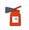 flat extinguisher icon vector image vector image