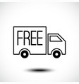 free delivery line icon vector image