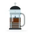 french press coffee maker flat isolated vector image vector image