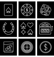 games of chance vector image vector image