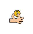 give money icon vector image
