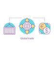 global trade concept icon vector image vector image