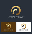 gold round arrow abstract company logo vector image vector image