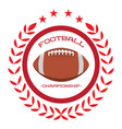 isolated football emblem vector image vector image