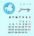january 2015 zodiac vector image