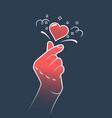 korea finger heart symbol vector image vector image