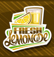 label for fresh lemonade vector image vector image