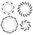 Laurel wreath tattoo set Black round ornaments vector image vector image