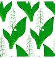 lily of the valley pattern vector image vector image