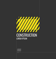 Logo Construction Elements for cards poster and vector image vector image