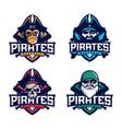 modern professional set emblem pirates for vector image vector image