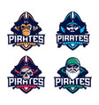 modern professional set emblem pirates vector image