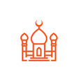 mosque icon in linear style vector image vector image