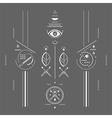 Mystical signs vector image vector image