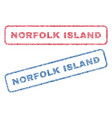 norfolk island textile stamps vector image vector image