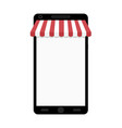 online shopping on smartphone web store vector image