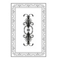oriental ornaments old frame isolated on white vector image vector image