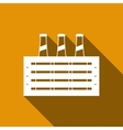 Pack of Beer icon with long shadow vector image vector image