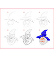 page shows how to learn step step to draw cute vector image vector image