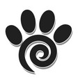 paw print - spiral vector image vector image