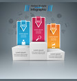 pedestal for winners - business infographic vector image