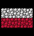 polish flag mosaic of fist icons vector image vector image