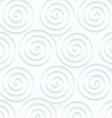Quilling paper three spirals vector image vector image