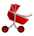 red baby pram icon cartoon style vector image vector image