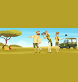 safari background outdoor african landscape with vector image