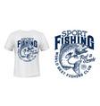 salmon fish t-shirt print fishing sport club vector image