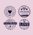 set love seals icons vector image