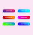 set modern vivid buttons grident button of vector image vector image